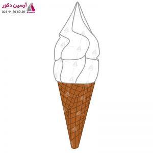 ماکت بستنی قیفی ساده دیواری