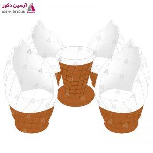 میز و صندلی بستنی قیفی کوچک ساده