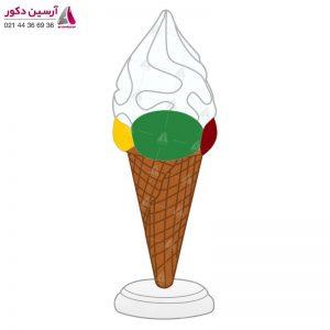 استند بستنی قیفی رومیزی