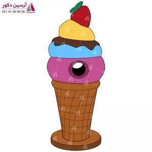 سطل زباله طرح بستنی
