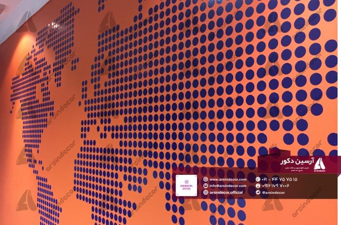 استیکر دیواری نقش جهان