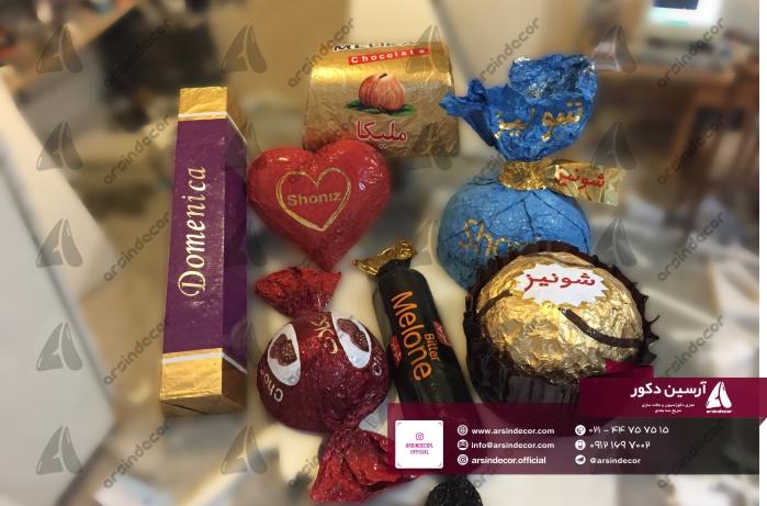 دکور غرفه نمایشگاه شکلات