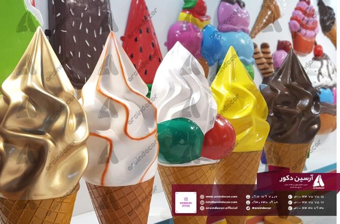 ماکت تبلیغاتی بستنی قیفی