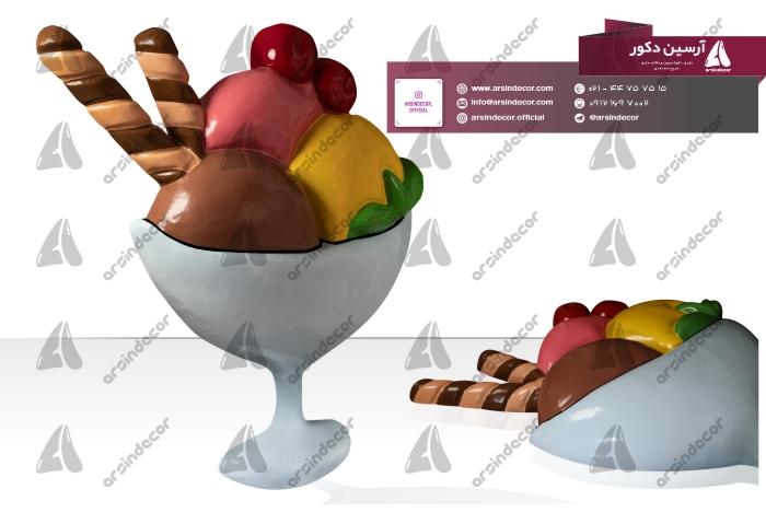 ماکت بستنی اسکوپی لیوانی