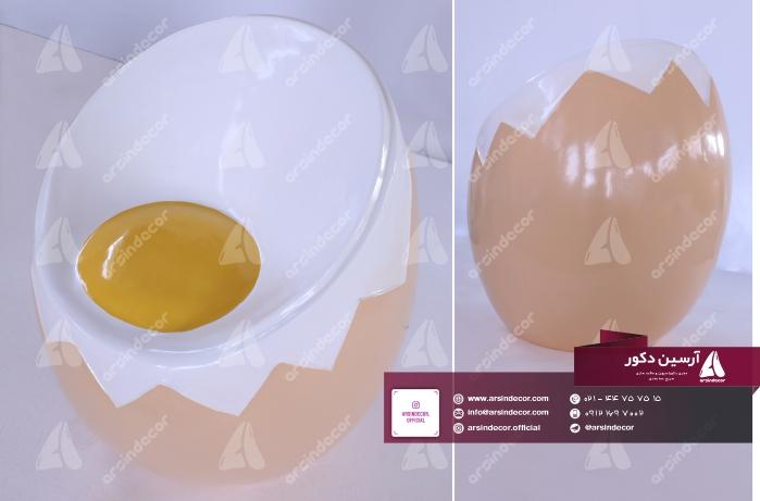 میز و صندلی تخم مرغی