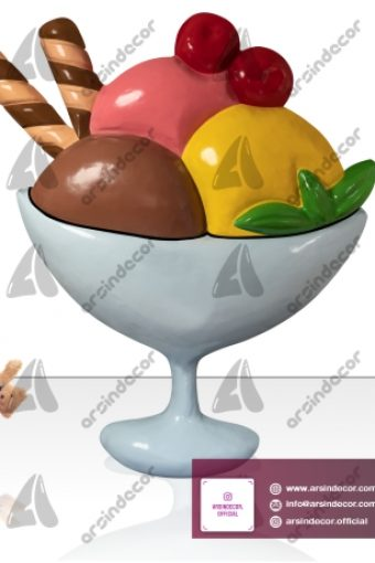 ماکت تبلیغاتی بستنی لیوانی دیواری
