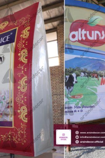 ماکت تبلیغاتی شیر خشک و برنج