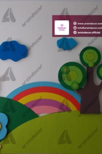 دیزاین داخلی مهد کودک گلها
