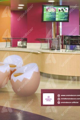 ماکت میز و صندلی تخم مرغی